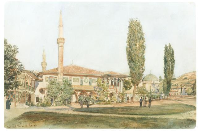Rudolf Von Alt (Austrian, 1812-1905) A View of the Khan's Palace at Bakhchisarai, Crimea