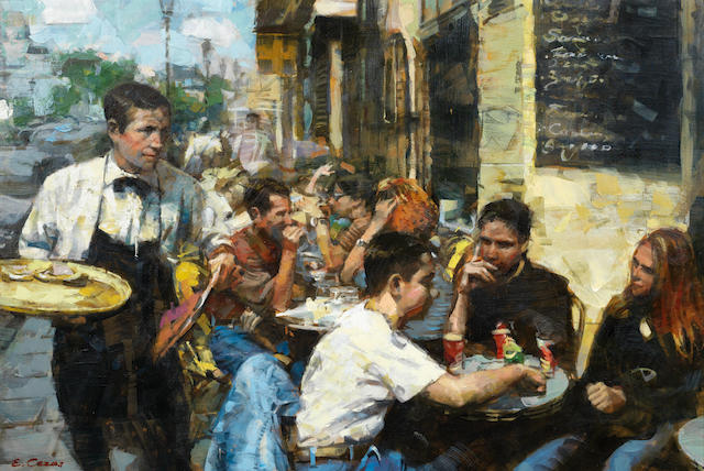 Evgeny Segal (Russian, born 1967) Cafe society
