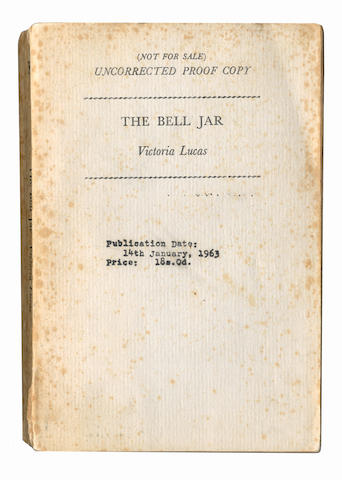 PLATH (SYLVIA)] The Bell Jar by Victoria Lucas, UNCORRECTED PROOF COPY, Heinemann, 1962