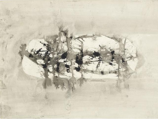 Vasudeo S. Gaitonde (India, 1924-2001) Composition