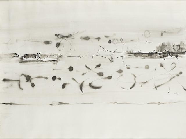 Vasudeo S. Gaitonde (India, 1924-2001) Composition No. 5