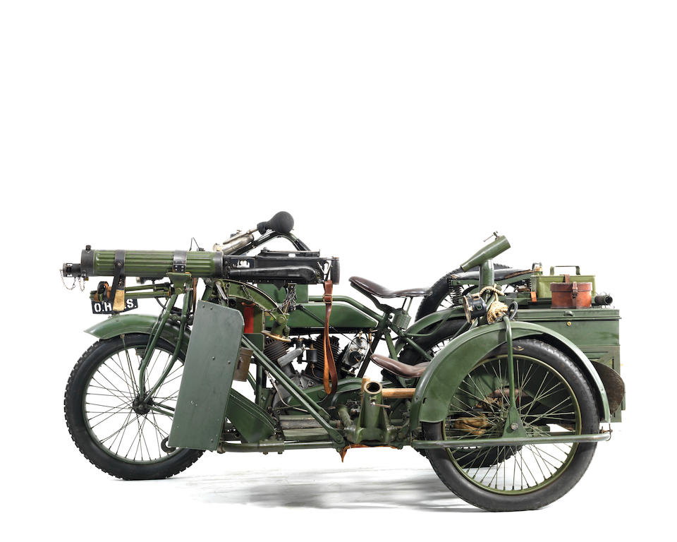 1916/17 Matchless-Vickers 8B2/M Russian Military Motorcycle Combination Frame no. 557M Engine no. M63674
