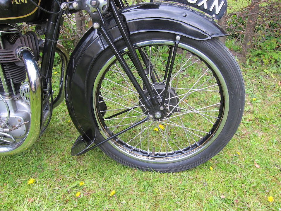 1932 Sunbeam 493cc Model 9 Frame no. D12593