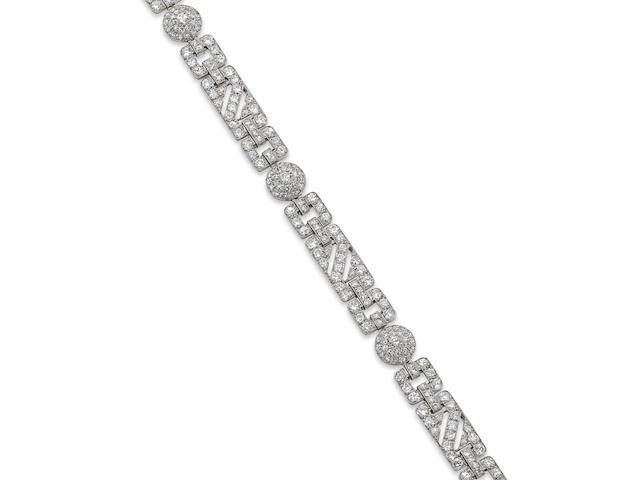 An Art Deco diamond bracelet, circa 1925