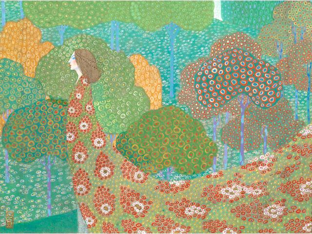 Vittorio Zecchin (Italian, 1878-1947) 'Primavera' (Spring), circa 1914