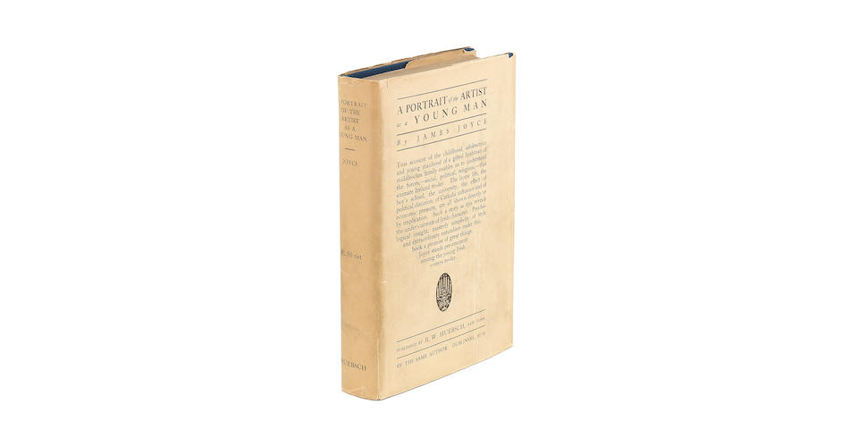 JOYCE (JAMES) A Portrait of the Artist as a Young Man, FIRST EDITION, WITH DUST-JACKET, New York, B.W. Huebsch, 1916