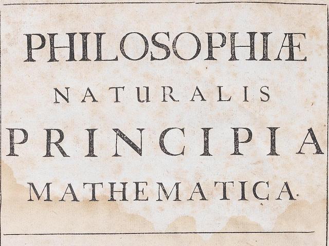 NEWTON (ISAAC) Philosophiae naturalis principia mathematica, first edition, Joseph Streater, 1687