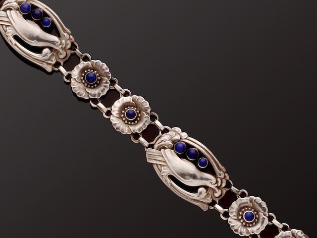 Georg Jensen: A lapis lazuli set bracelet