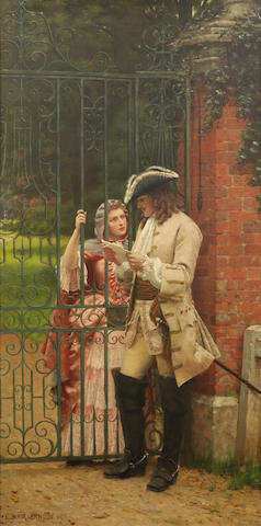 Edmund Blair Leighton, ROI (British, 1852-1922) 'What shall I say'