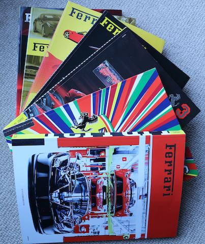 A collection of Ferrari Year books