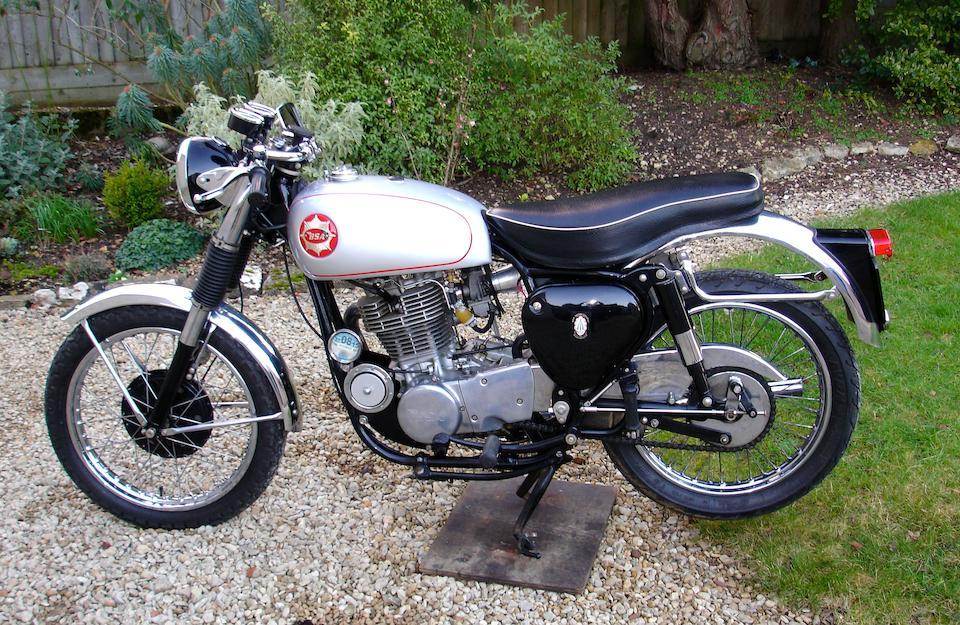 c.1955 BSA-Yamaha 499cc 'Gold Star' Special Frame no. CA7 7198 Engine no. 48T 057027