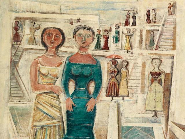 Massimo Campigli (Italian, 1895-1971) Figure (Painted in 1957)