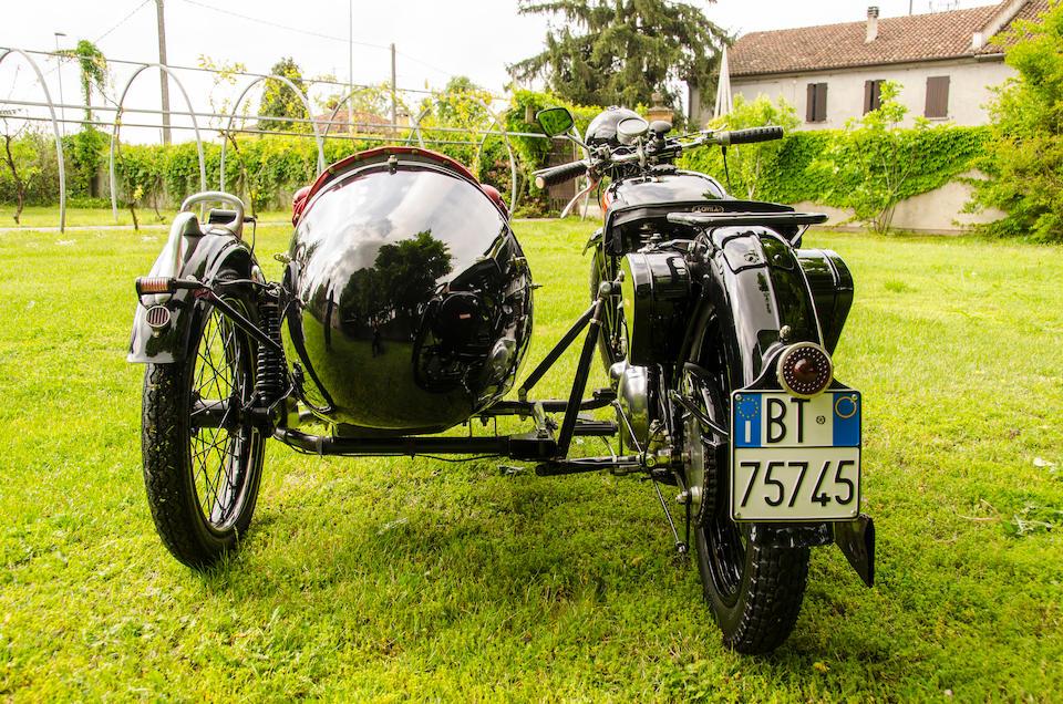Bonhams : 1938 Benelli 500 VLC & Velorex Sidecar Frame no