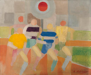 Robert Delaunay (French, 1885-1941) Les coureurs à pied (Painted in 1924)