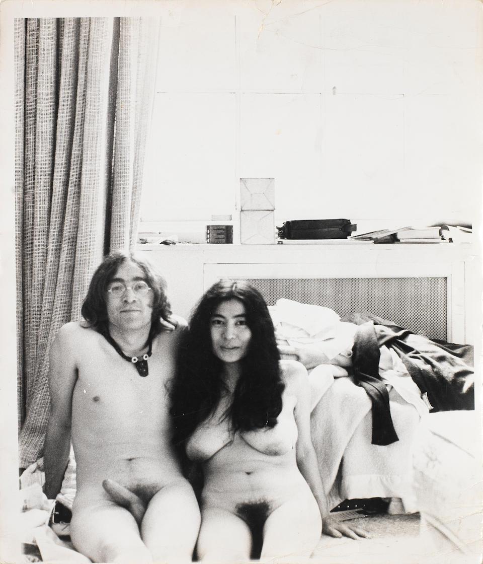 Bonhams : John Lennon and Yoko Ono: three vintage prints taken by John  Lennon for the infamous album cover 'Unfinished Music No. 1, Two Virgins',  1968,