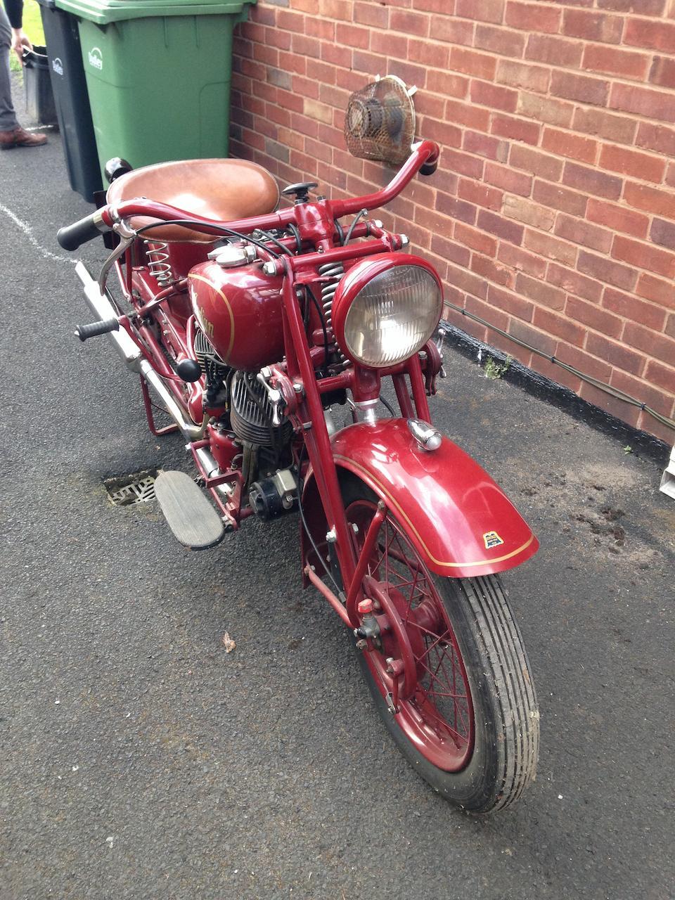 c.1941 Indian 500cc Model 741B Scout Frame no. 741 4846 Engine no. CDA 22216