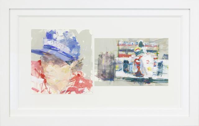 Dexter Brown (1942- ), 'Ayrton Senna / Mclaren',