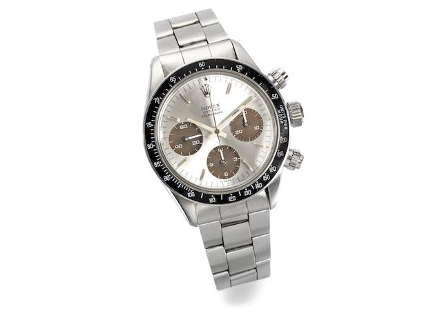 Rolex. A stainless steel manual wind chronograph bracelet watch Cosmograph, Ref:6265, Serial No.343****, Circa 1971