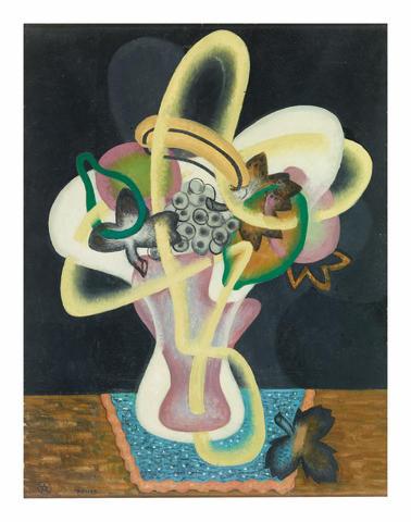 John Joseph Wardell Power (1881-1943) Basket of Fruit, c.1936 (housed in original artist's frame)