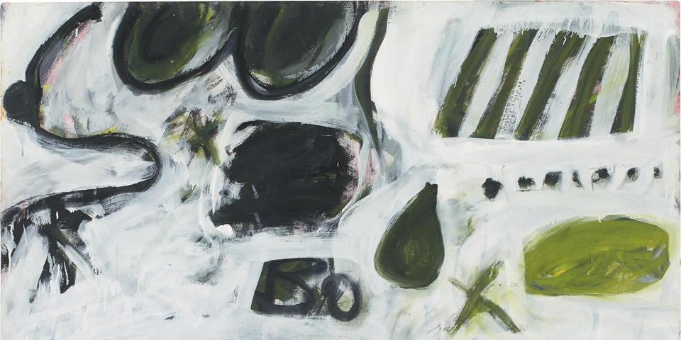 Tony Tuckson (1921-1973) Untitled (Green X) TP 214, c.1963