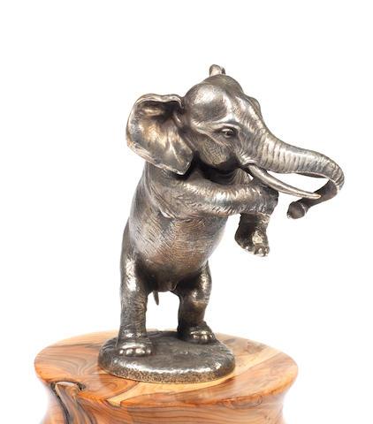 An Elephant car mascot, by Franz Bergman, Austrian, 1920s,
