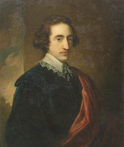 Sir Nathaniel Dance Holland, Bt. (London 1734-1811 Winchester) Portrait of Henry Cresset Pelham, half-length, in a blue coat and red sash