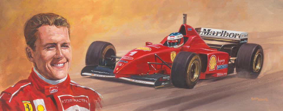 Ross Wardle (British), a series of six Formula 1 driver artworks, ((6))