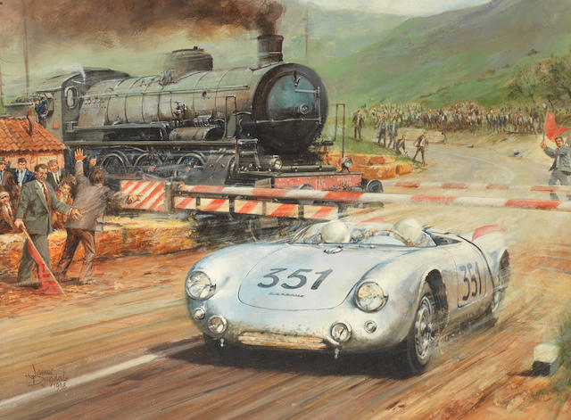 James Dugdale (British 1940 - ): 'MILLE MIGLIA 1954'