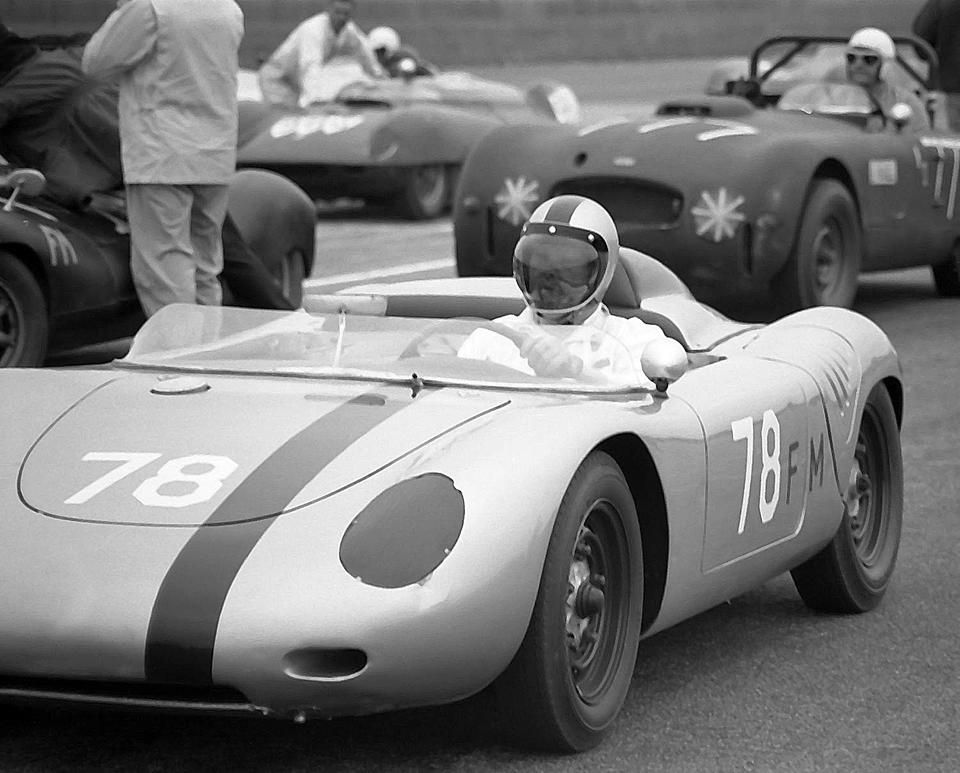 The Property of Sir Stirling Moss OBE The Ex-Bob Holbert, 'Gentleman Tom' Payne, Millard Ripley,1961 Porsche RS-61 Spyder Sports-Racing Two-Seater  Chassis no. 718-070