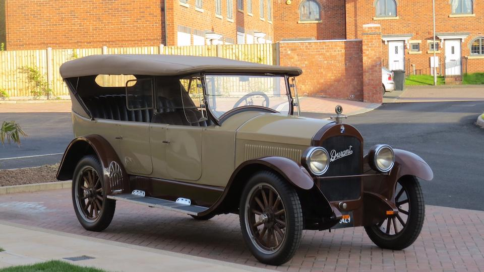 1922 Durant B-22 Tourer  Chassis no. DY 14065 Engine no. DY 14065