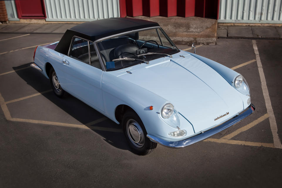 One of only 502 produced,1964 Autobianchi Stellina Barchetta  Chassis no. 100DB-000291 Engine no. 100.000-2083351