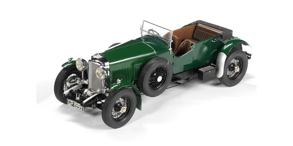 A FINE 1:12 SCALE MODEL OF A 1930 BENTLEY EIGHT-LITRE, BY FULGUREX,  ((Qty))