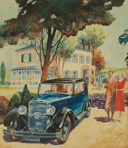 Two watercolour paintings attributed to Reginald Allen Shuffrey (1886-1952),