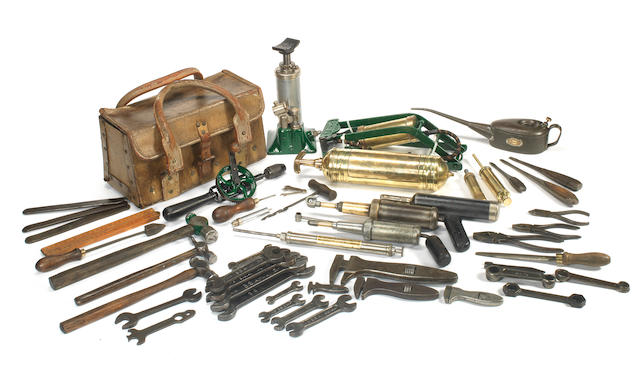 A set of tools suitable for a vintage Bentley, with toolbag, ((Qty))
