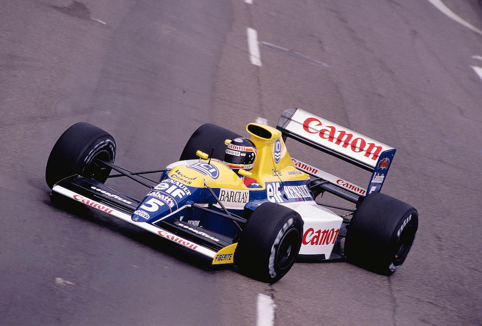 Offered direct from the Williams Grand Prix Reserve Collection  The Ex-Thierry Boutsen, ex-Riccardo Patrese, 3rd place US Grand Prix,1990 Williams-Renault FW13B  Formula 1 Racing Single-Seater  Chassis no. FW13B-07 Engine no. RS02 - 129