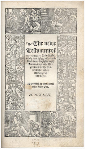 BIBLE, IN ENGLISH, MATTHEW'S VERSION [The Byble, that is to say all the holy scripture: In whych are contayned the Olde and New Testamente], [John Daye, and William Seres, 1549]