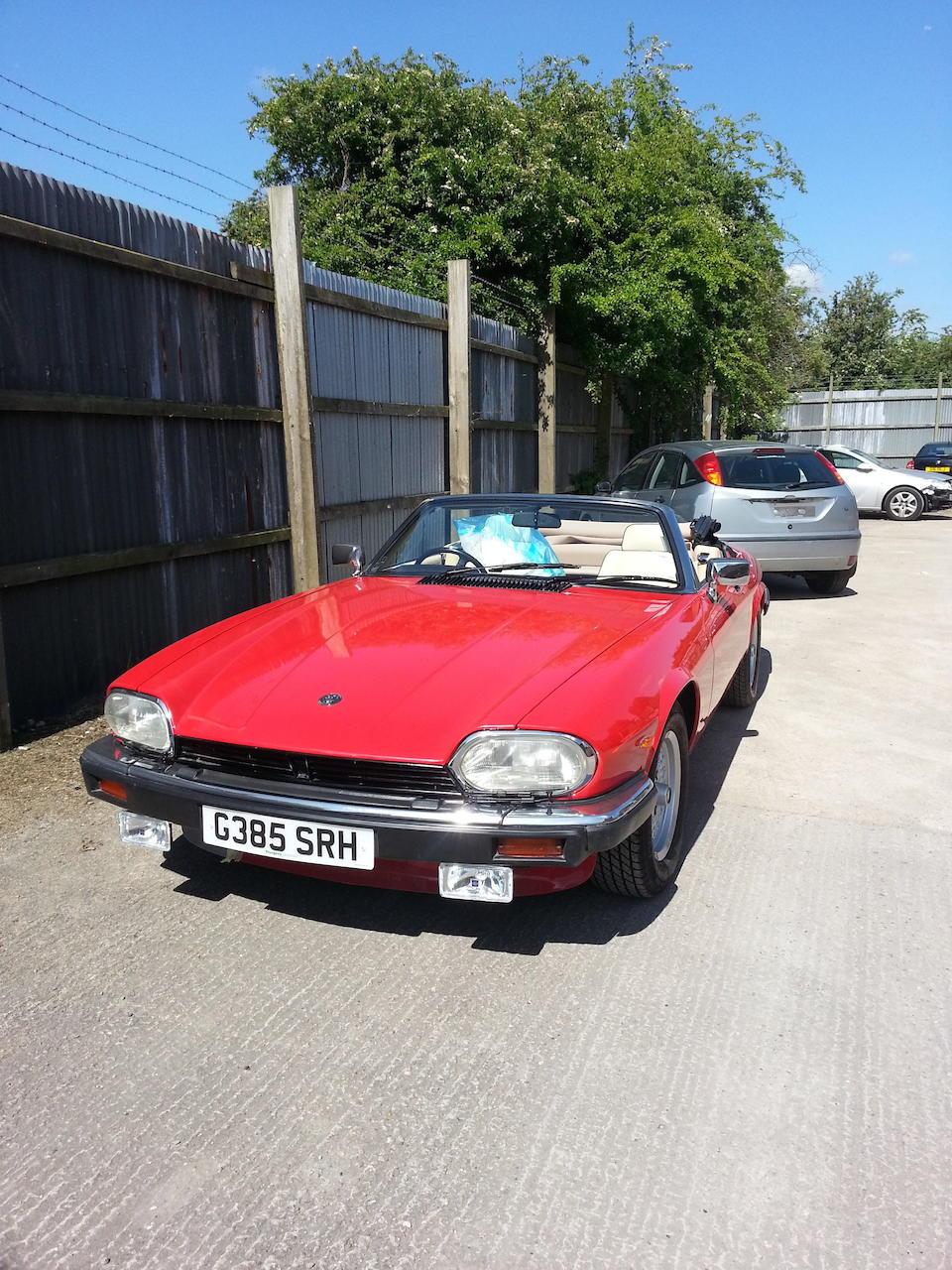 1990 Jaguar XJ-S V12 Convertible  Chassis no. SAJJNADW3DB171899 Engine no. 8S 076008 SB