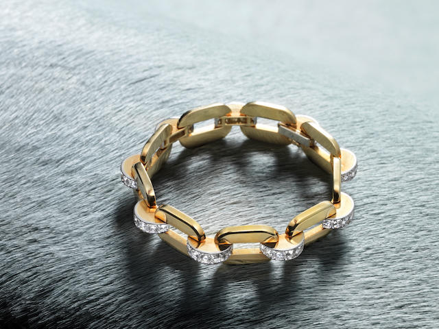 A diamond-set bracelet, by Cartier,