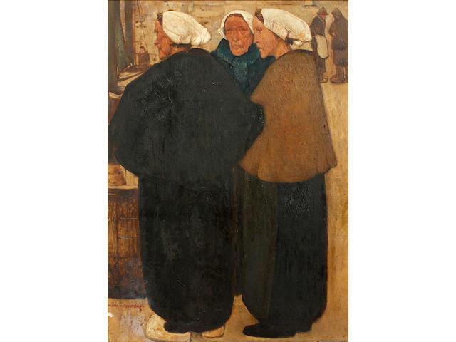 Willem van den Berg (Dutch, 1886-1970) Three fisherwomen
