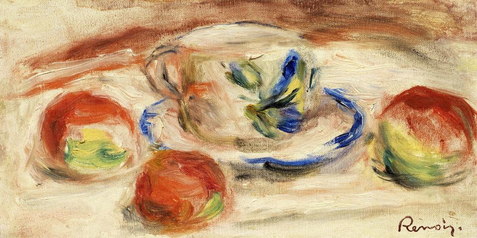 Pierre-Auguste Renoir (French, 1841-1919) Nature morte à la tasse (Painted in 1919)