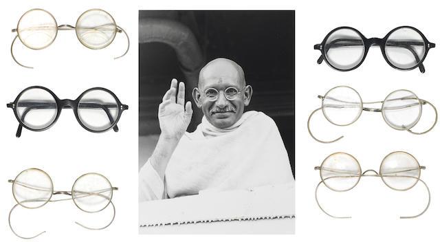 'Gandhi': a group of glasses made for Ben Kingsley as Mahatma Gandhi, Columbia, 1982, 6