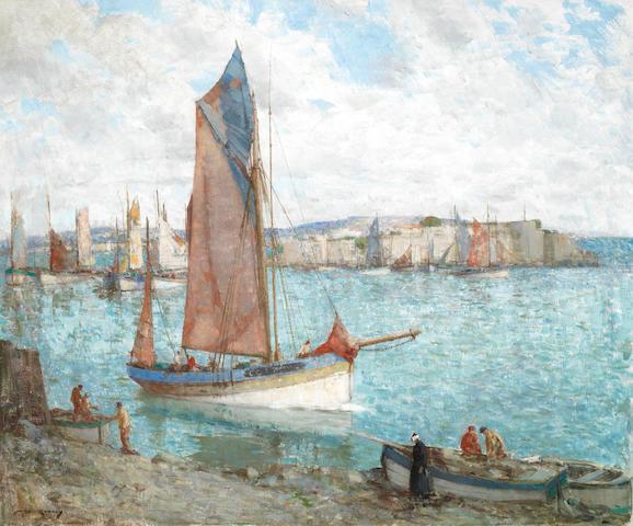 William Lee Hankey RWS, RI, ROI, RE (British, 1869-1952) 'Outward Bound, Concarneau'