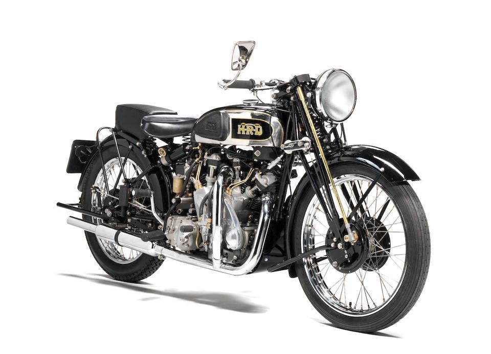 1938 Vincent-HRD 998cc Series-A Rapide Frame no. DV1515 (see text) Engine no. V1038