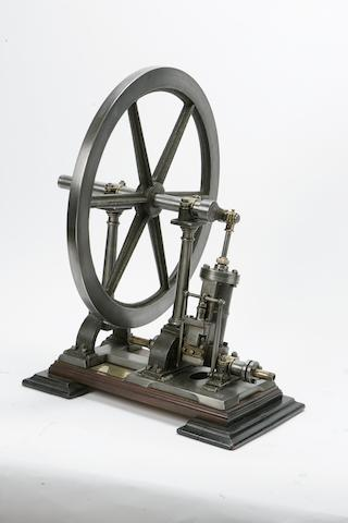"""A SMALL, FULL-SIZED """"PENDULOUS"""" OSCILLATING ENGINE, Constructed and presented by E Jekyll Esq, late Grenadier Guards and father of the world famous English gardener Gertrude Jekyll,"""
