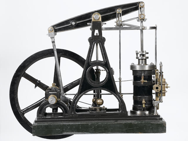 A SMALL, FULL-SIZED 'A'-FRAME BEAM ENGINE, CIRCA 1820,