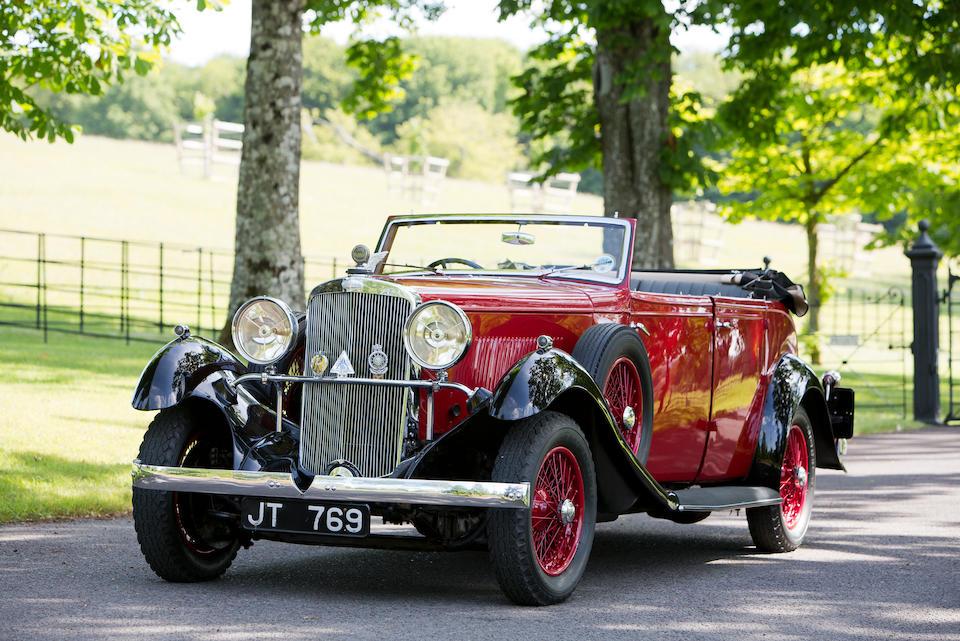1934 Sunbeam 25hp Tourer  Chassis no. 81495 Engine no. 81335