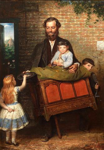 English School 19th Century The Hurdy Gurdy man,