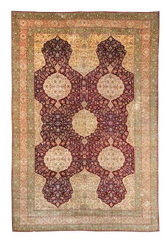 A silk Kayseri carpet West Anatolia, 441cm x 298cm