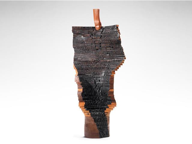 El Anatsui (Ghanaian, born 1944) 'Al Haji' 184 x 80 x 28cm (72 7/16 x 31 1/2 x 11in).