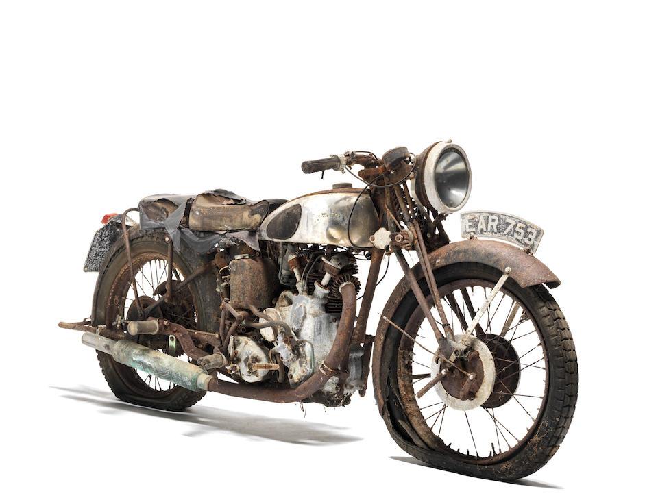 1938 Vincent-HRD 500cc Series-A Comet Project Frame no. D1586 Engine no. C895